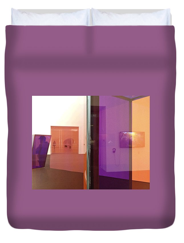 Abstract Duvet Cover featuring the photograph Surface And Reflection by David Stone