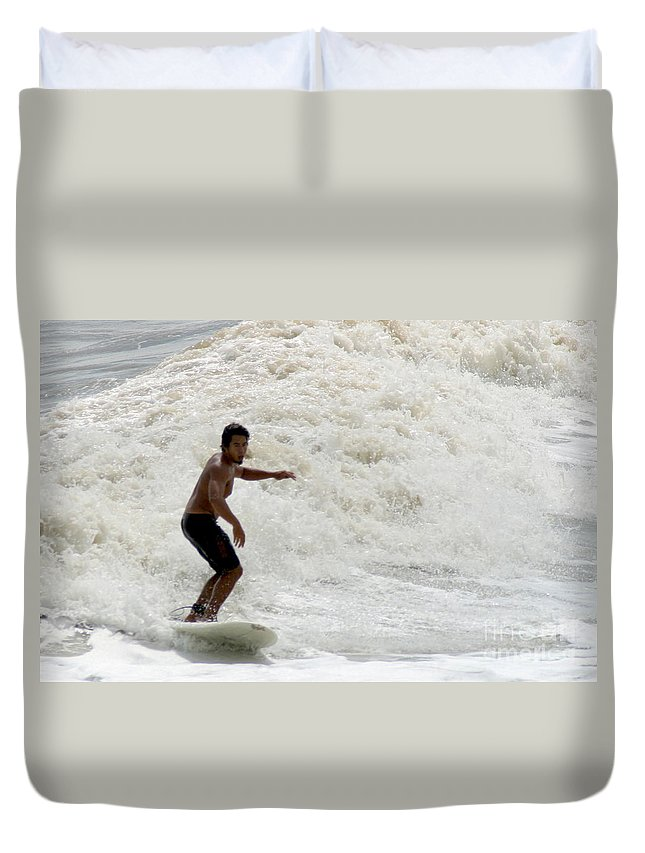 Gary Gingrich Duvet Cover featuring the photograph Surfer 0803b-2 by Gary Gingrich Galleries