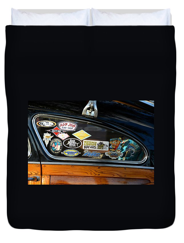 Surfing Duvet Cover featuring the photograph Surfing Woody by David Lee Thompson