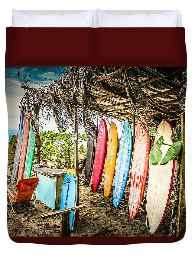 Costa Rica Duvet Cover featuring the photograph Surfs Up by Thomas Dilworth
