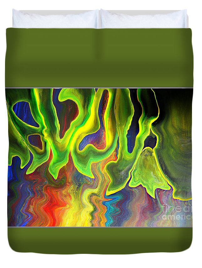 Surreal Duvet Cover featuring the mixed media Surreal Impulse.. by Jolanta Anna Karolska