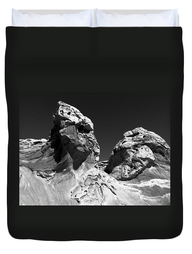 White Duvet Cover featuring the photograph Surreal Landscape by Alan Socolik