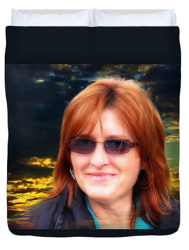Xdop Duvet Cover featuring the photograph Susan by John Herzog