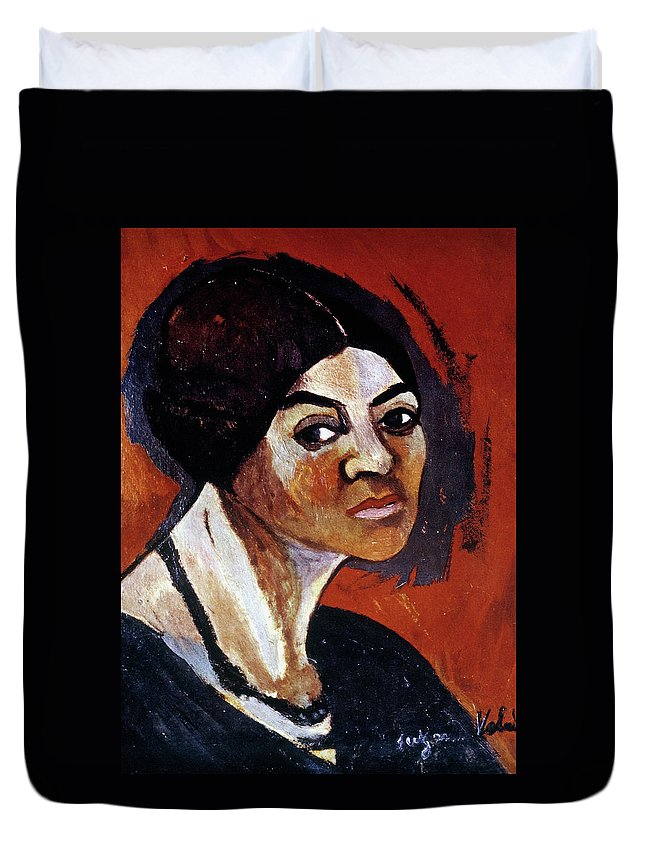 1916 Duvet Cover featuring the painting Suzanne Valadon (1865-1938) by Granger