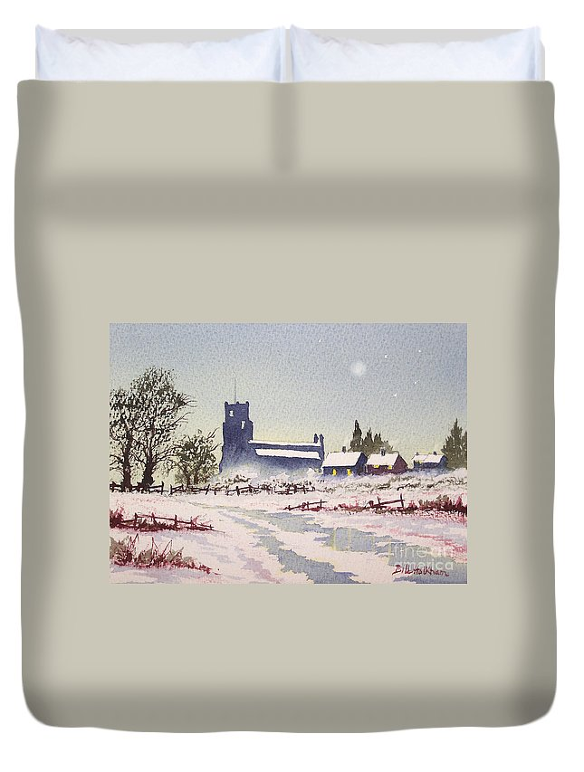 Suzan's Church Painting Duvet Cover featuring the painting Suzan's Church Painting by Bill Holkham