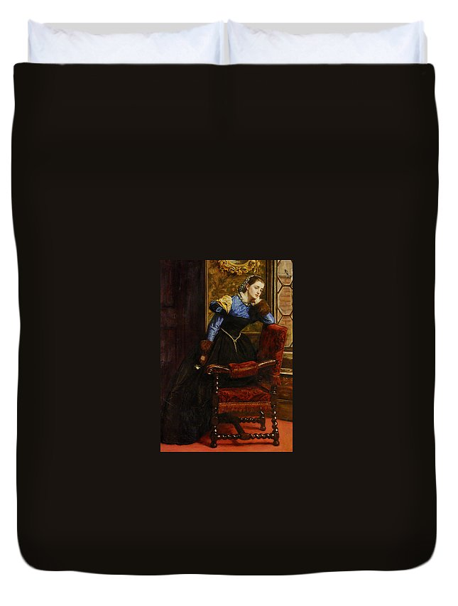 John Duvet Cover featuring the painting Swallow Swallow by Philip Ralley