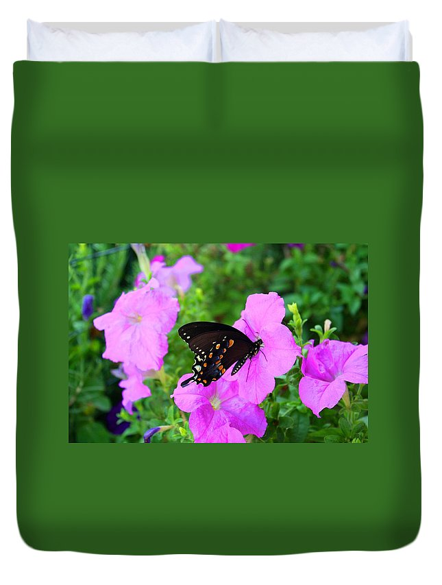 Swallowtail Duvet Cover featuring the photograph Swallowtail by Kathryn Meyer