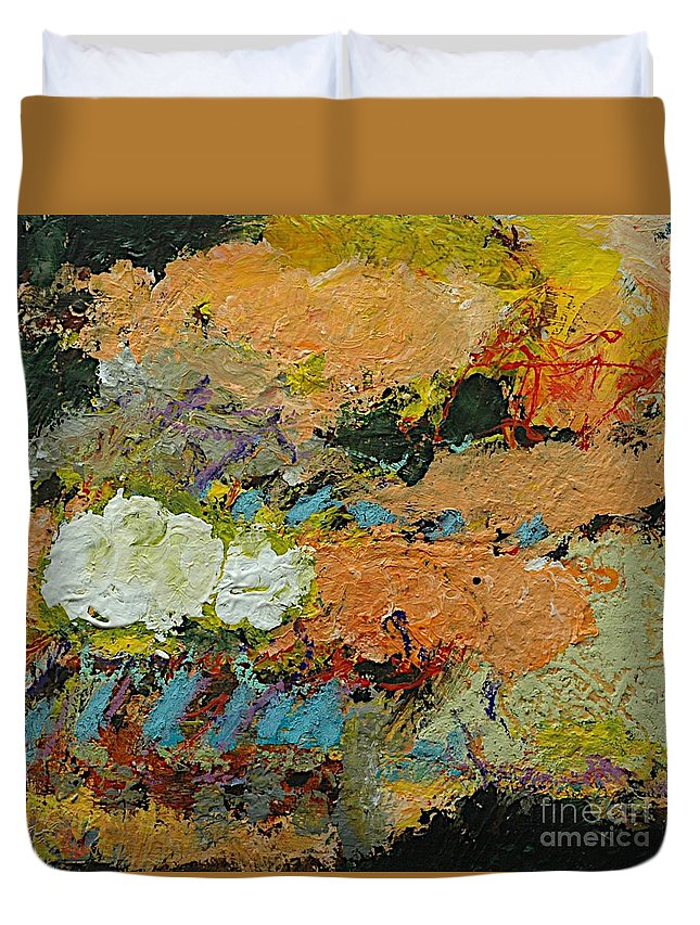Landscape Duvet Cover featuring the painting Sweet And Spicy by Allan P Friedlander