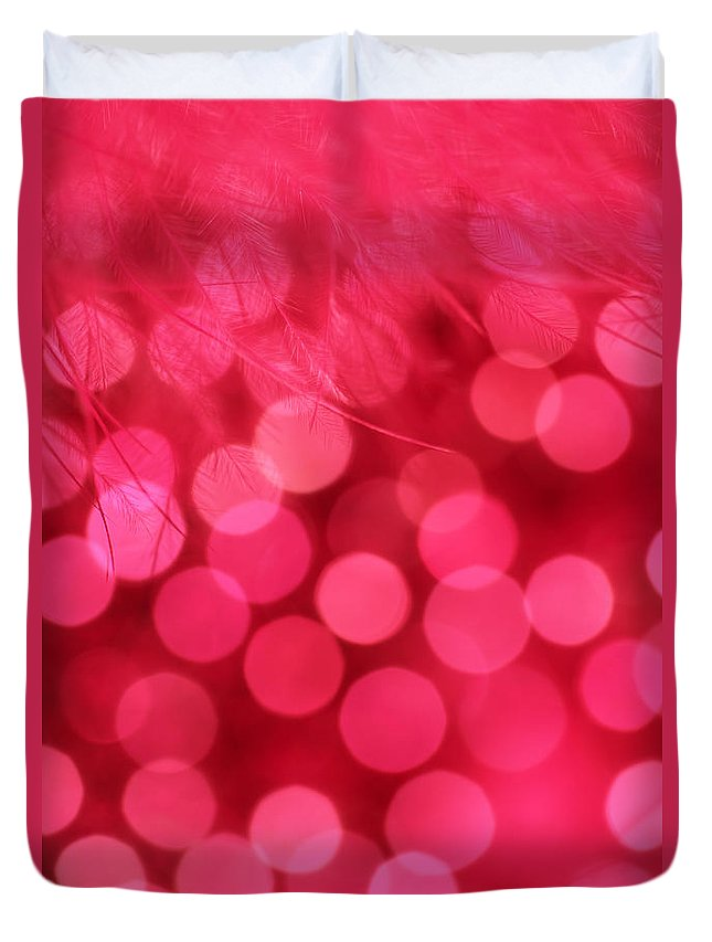 Abstract Duvet Cover featuring the photograph Sweet Emotion by Dazzle Zazz