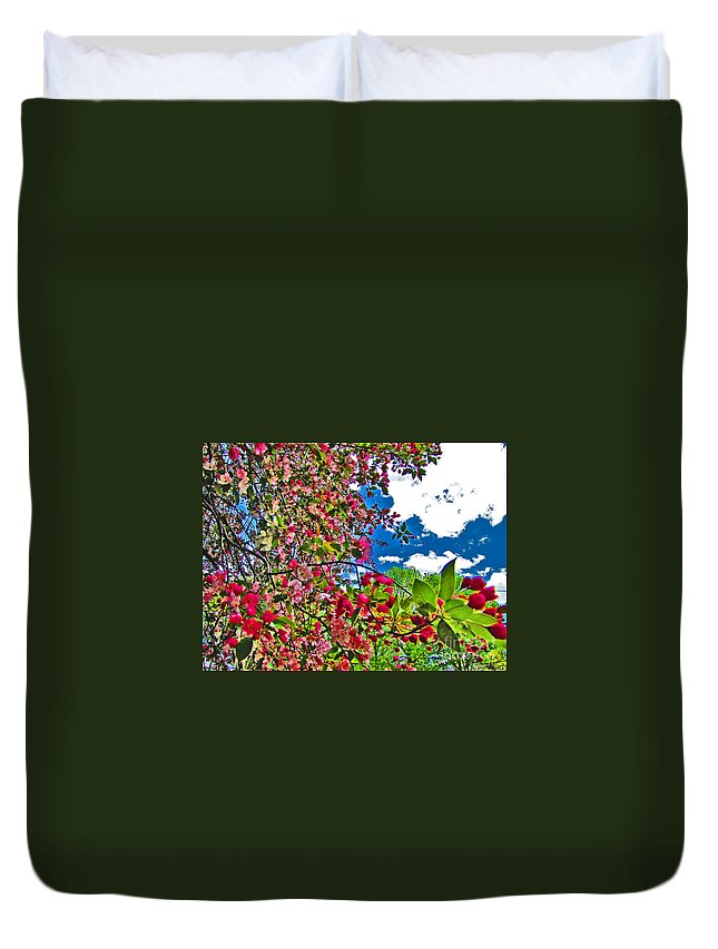 Bright Duvet Cover featuring the photograph Sweet Escape by Minding My Visions by Adri and Ray