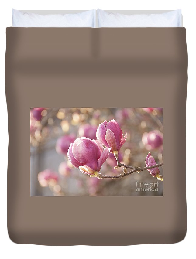 Bloom Duvet Cover featuring the photograph Sweet Magnolia by Juli Scalzi