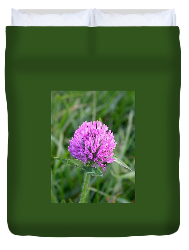 Sweet Clover Picture Duvet Cover featuring the photograph Sweet Pink Clover by Cynthia Wallentine