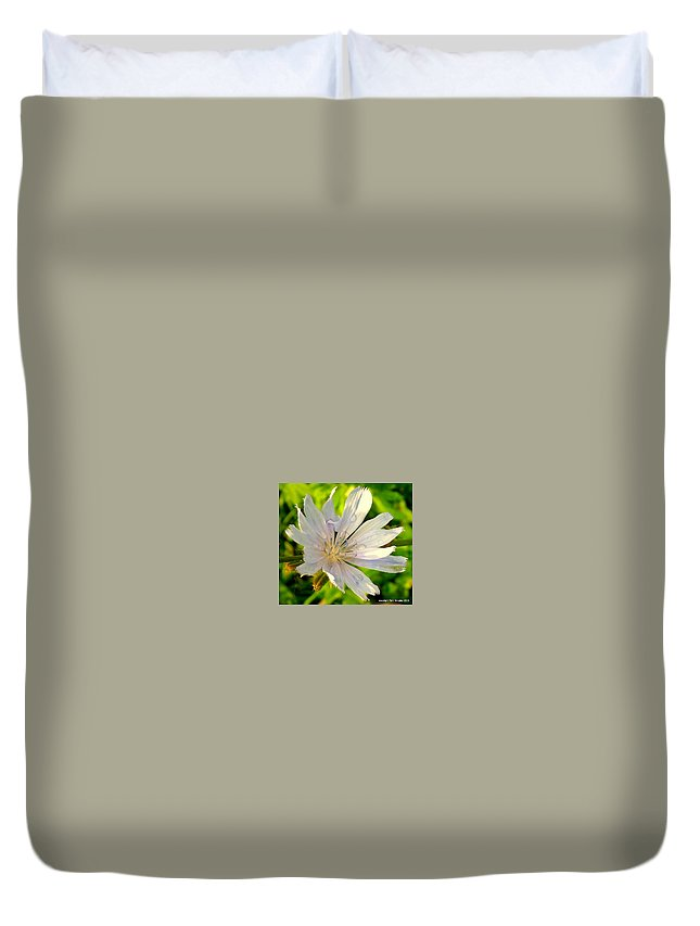 Flowers Duvet Cover featuring the photograph Sweet Summer Tears by Tami Quigley