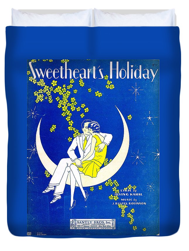 Nostalgia Duvet Cover featuring the photograph Sweetheart's Holiday by Mel Thompson
