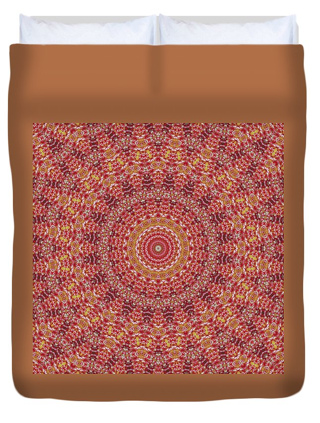 Sweets Duvet Cover featuring the photograph Sweets Mandala by Ben Bassey