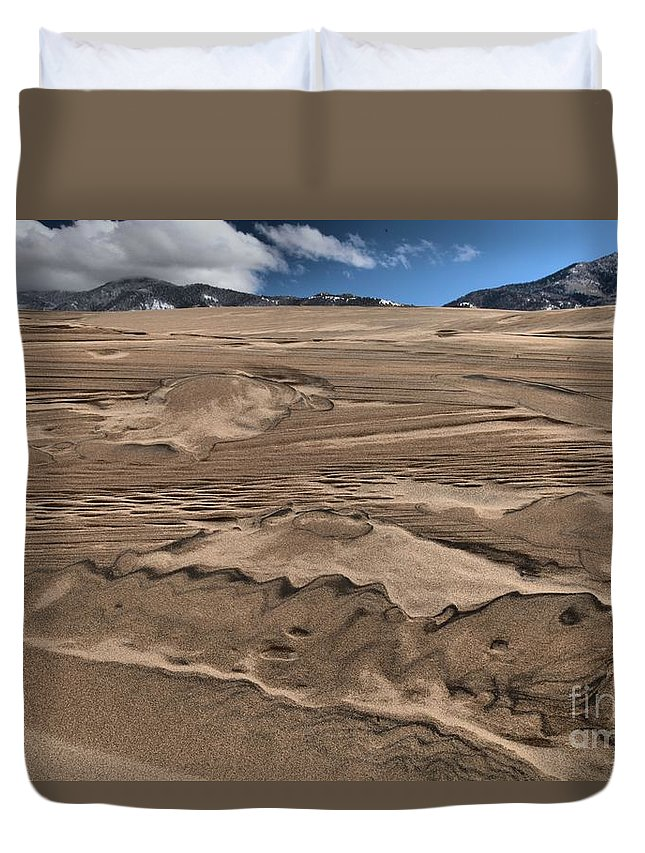 Great Sand Dunes National Parks Duvet Cover featuring the photograph Swimming In The Dunes by Adam Jewell