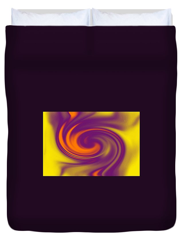 Colourful Swirl Duvet Cover featuring the photograph Swirling by Katherine Townsend