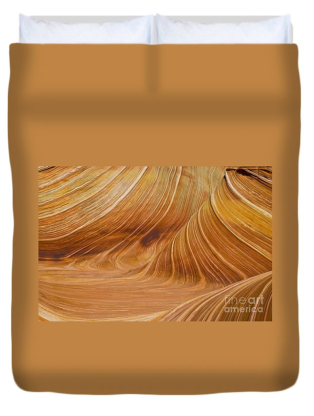 The Image Was Shot At Coyotte Buttes In The Paria Canyon Vermilion Cliffs Wilderness Duvet Cover featuring the photograph Swirls by Bob Phillips