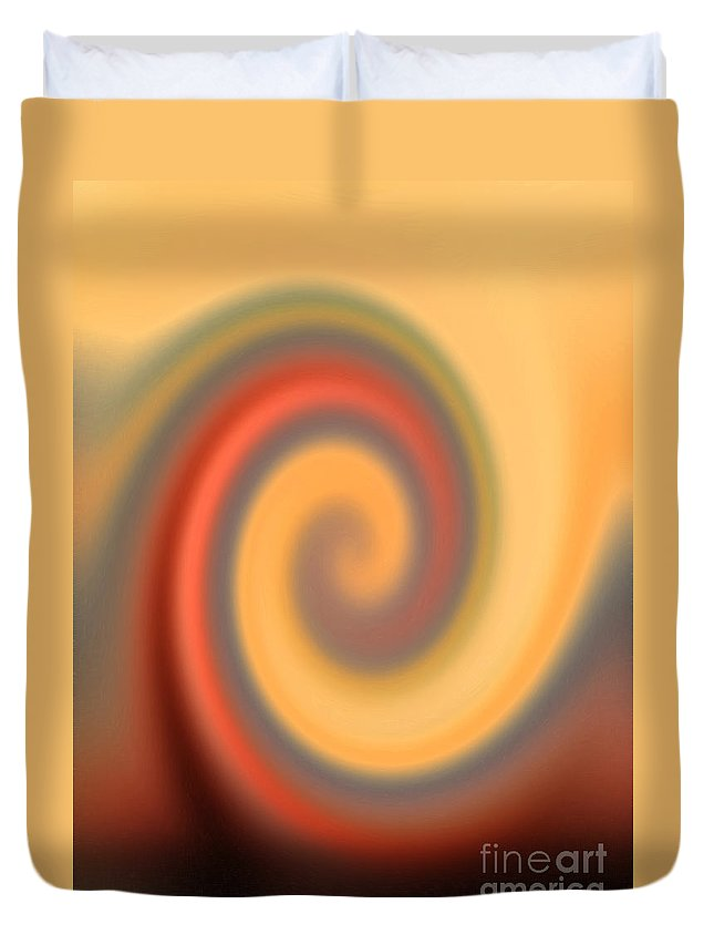 Swirl Duvet Cover featuring the digital art Swirly Abstract by Debbie Portwood
