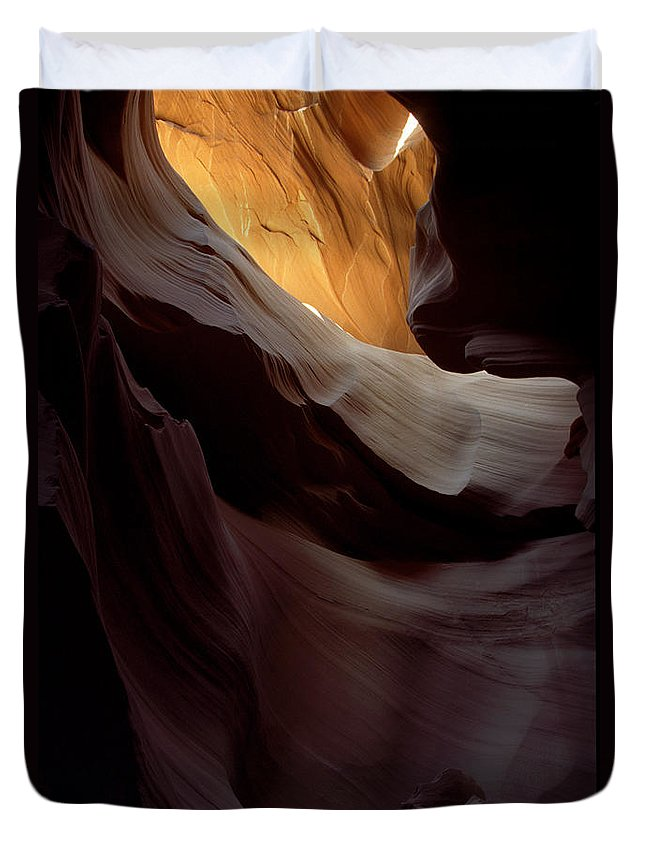 Slot Canyons Duvet Cover featuring the photograph Swopes by Kathy McClure