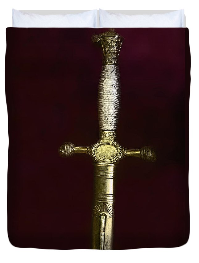 Sword Duvet Cover featuring the photograph Sword by Margie Hurwich
