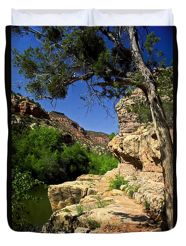 Arizona Duvet Cover featuring the photograph Sycamore Canyon by Kathy McClure