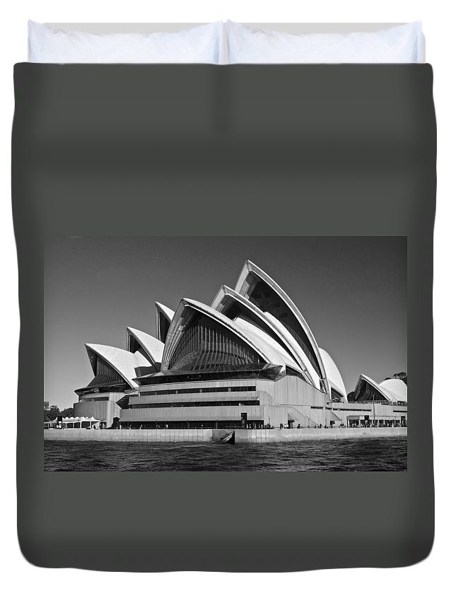 Unesco World Heritage Site Duvet Cover featuring the photograph Sydney Opera House by Venetia Featherstone-Witty