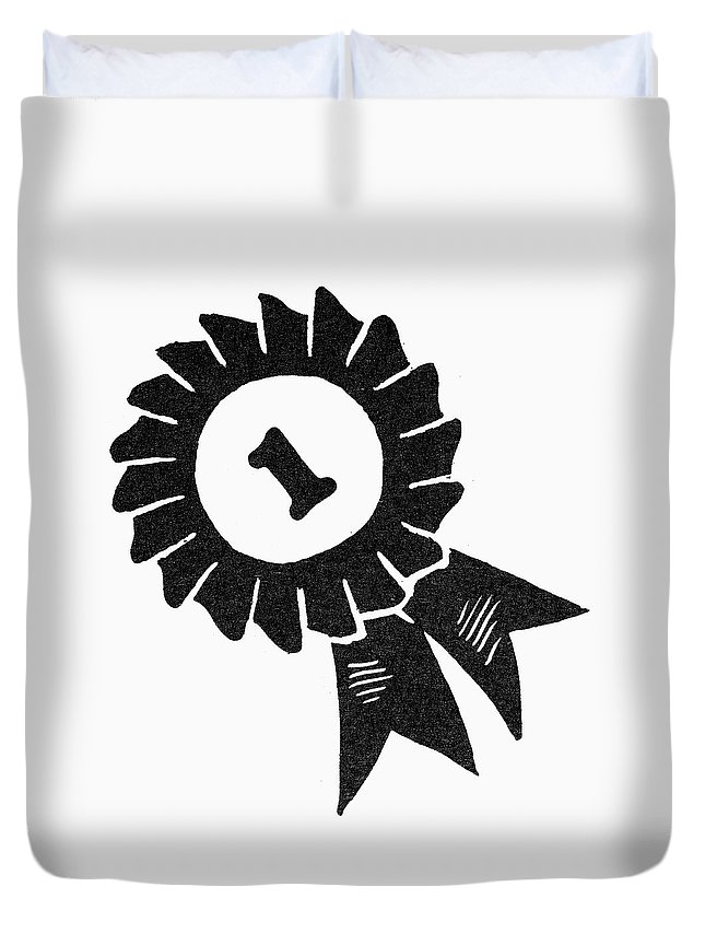 1st Duvet Cover featuring the painting Symbol Achievement by Granger