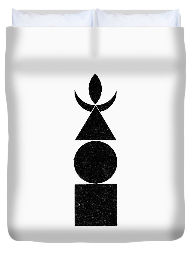 Air Duvet Cover featuring the painting Symbol Four Elements by Granger