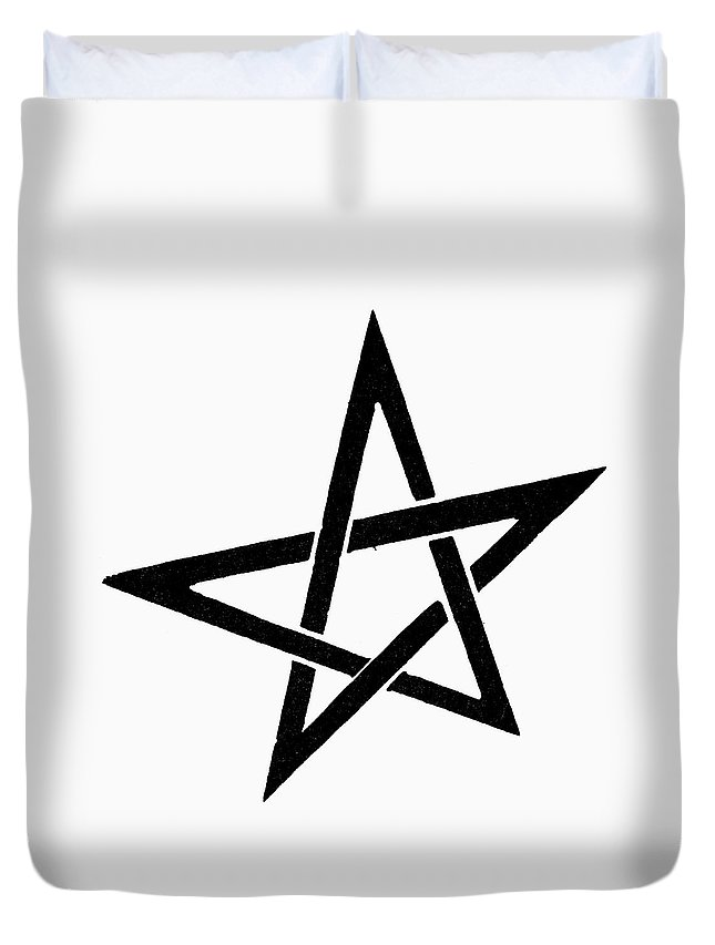 Evita Duvet Cover featuring the painting Symbol Pentacle by Granger