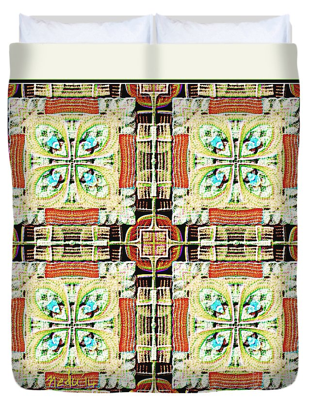 Fine Art Duvet Cover featuring the painting Symmetrica 337 by Nedunseralathan R