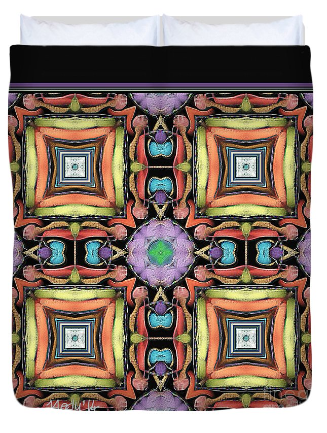 Fine Art Duvet Cover featuring the painting Symmetrica 338 by Nedunseralathan R