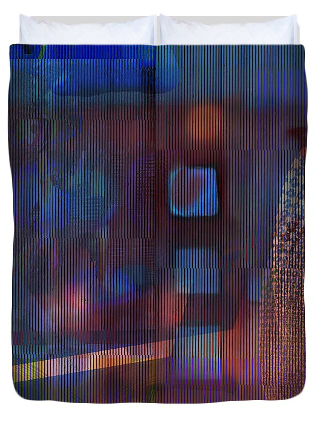 Synthetic Art Duvet Cover featuring the digital art Synthesis 3 by Andy Mercer
