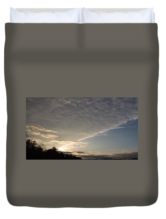 System Ceiling Duvet Cover featuring the photograph System Ceiling by Kim Pate