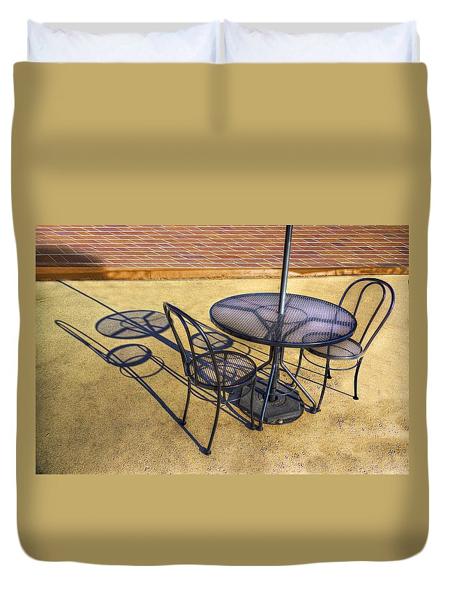Photography Duvet Cover featuring the photograph Table For Two by Paul Wear