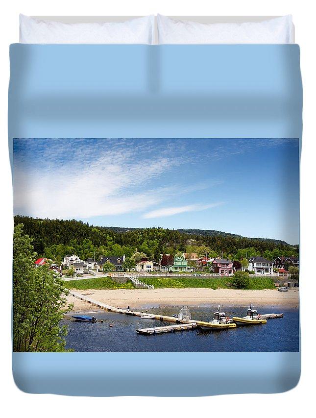 Tadoussac Duvet Cover featuring the photograph Tadoussac Quebec by Alexander Voss