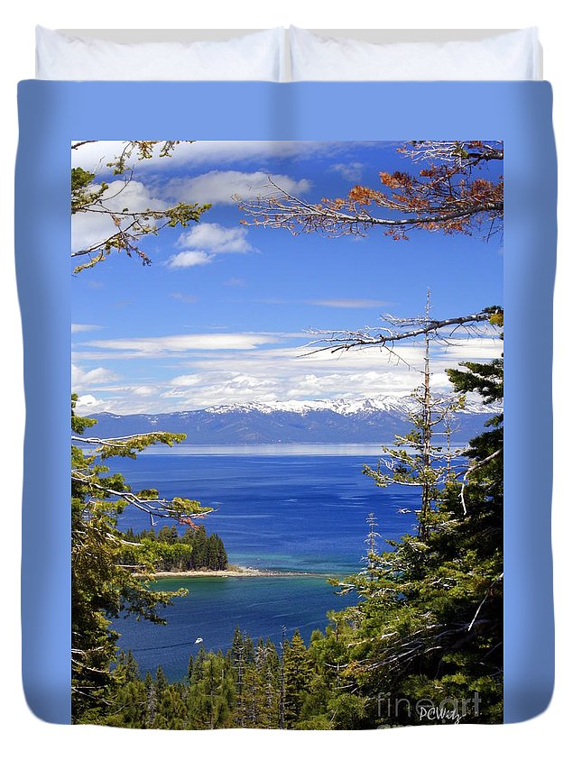 Tahoe Blue Duvet Cover featuring the photograph Tahoe Blue by Patrick Witz