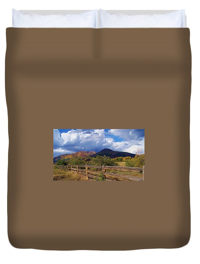 Mountains Duvet Cover featuring the photograph Take Me Here by Jewell McChesney