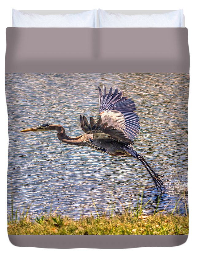 America Duvet Cover featuring the photograph Take Off by Rob Sellers