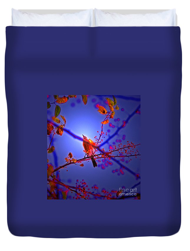 First Star Art Duvet Cover featuring the photograph Taking Flight By Jrr by First Star Art