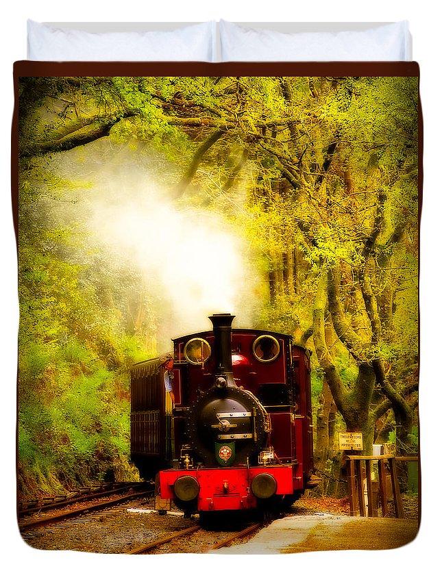 Abergynolwyn Duvet Cover featuring the photograph Talyllyn Railway 2 by Mark Llewellyn
