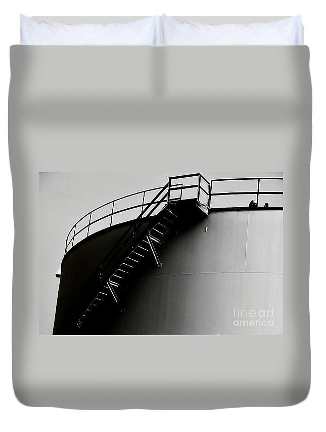 Black And White Duvet Cover featuring the photograph Tank by Amar Sheow