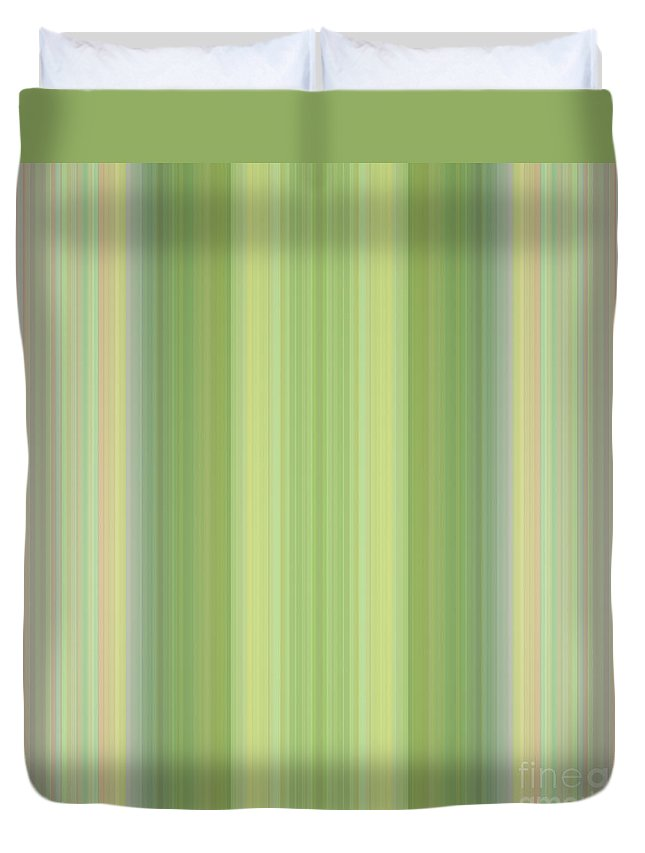Design Duvet Cover featuring the mixed media Tapeten-wallpaper-green-mix by Mando Xocco