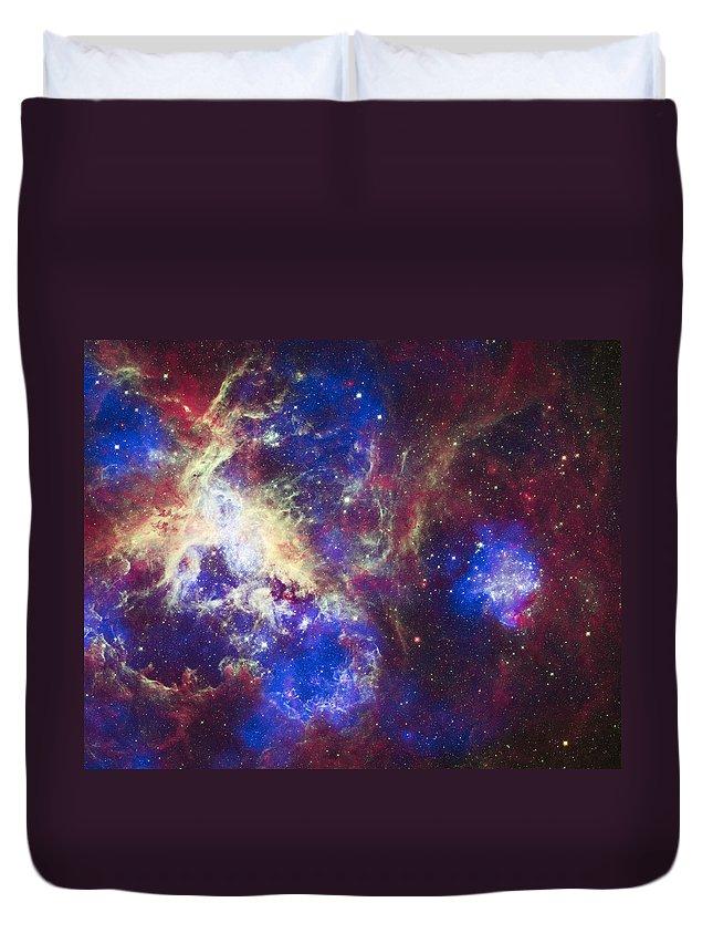 3scape Duvet Cover featuring the photograph Tarantula Nebula by Adam Romanowicz