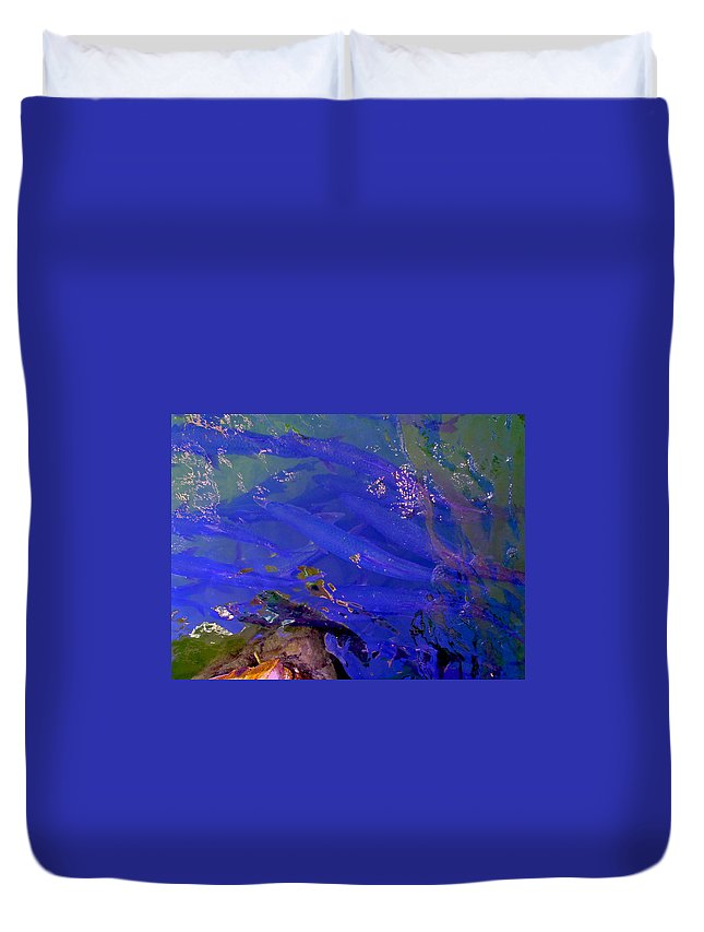 Tarpon Duvet Cover featuring the photograph Tarpon Stack by Carey Chen