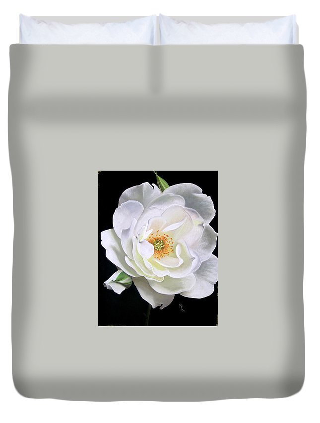 Rose Duvet Cover featuring the pastel Taryn by Rosemarie Temple-Smith