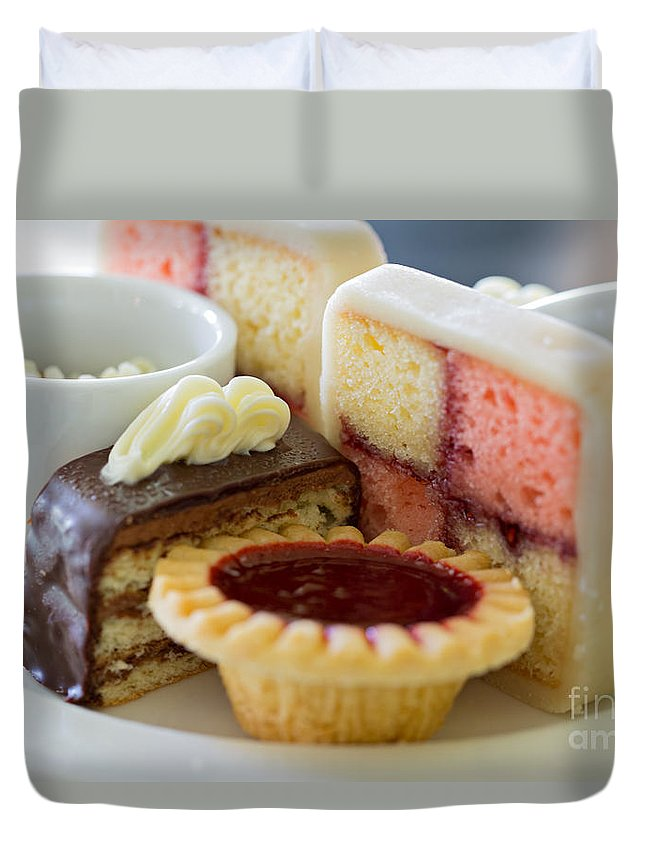 Cakes Duvet Cover featuring the photograph Tea Cakes by Louise Heusinkveld