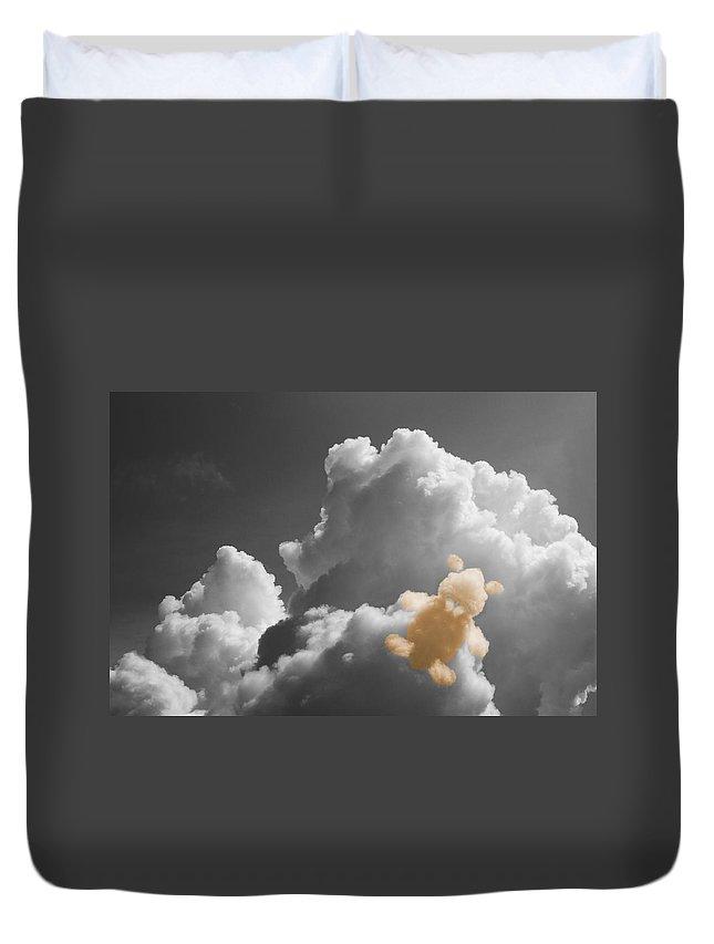 Teddy Bear Cloud Duvet Cover featuring the photograph Teddy Bear Cloud by Dan Sproul