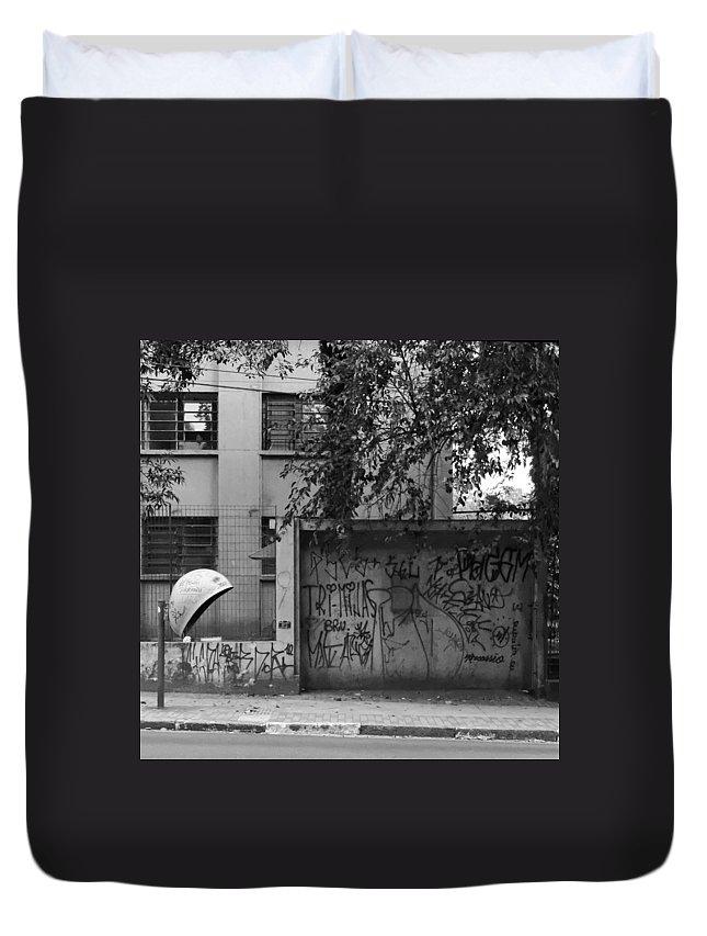 Graffiti Duvet Cover featuring the photograph Telifonica by Julie Niemela
