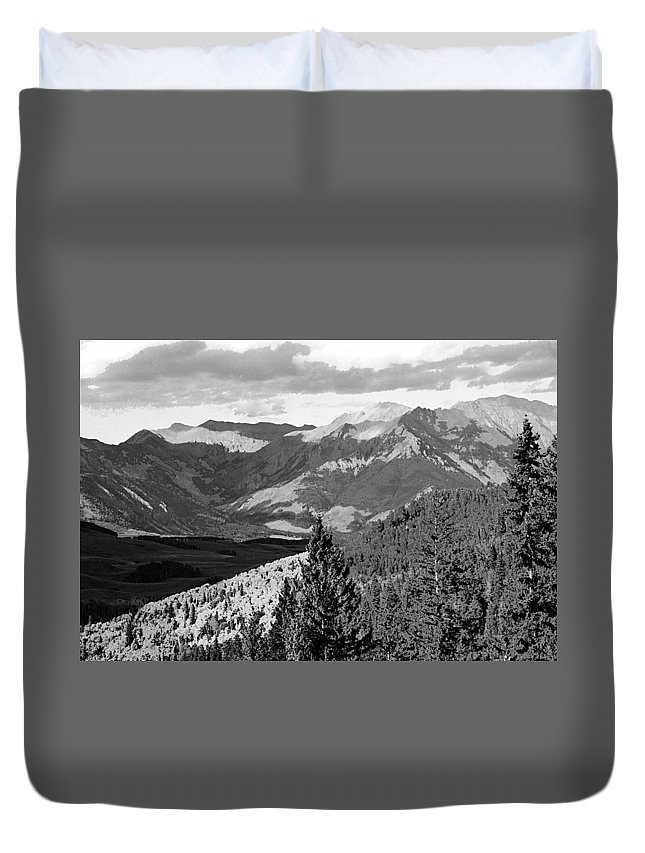 Telluride Duvet Cover featuring the photograph Telluride Backcountry by Steve Archbold